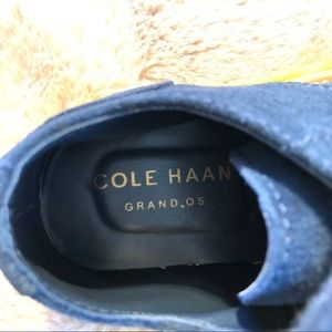 Cole Haan Shoes - COLE HAAN Kids Grand.OS Navy/Wasabi Wingtips NWOB